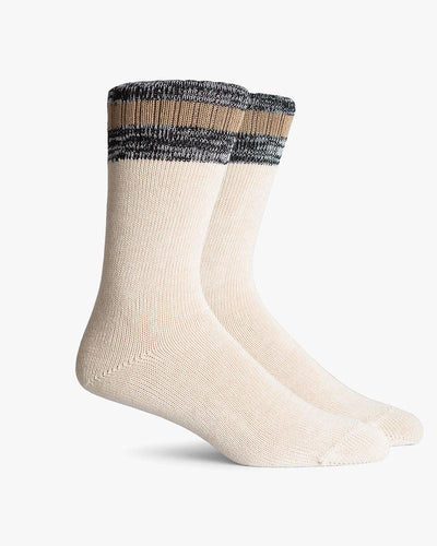 Abbot Crew Socks- Made in Japan- Oatmeal