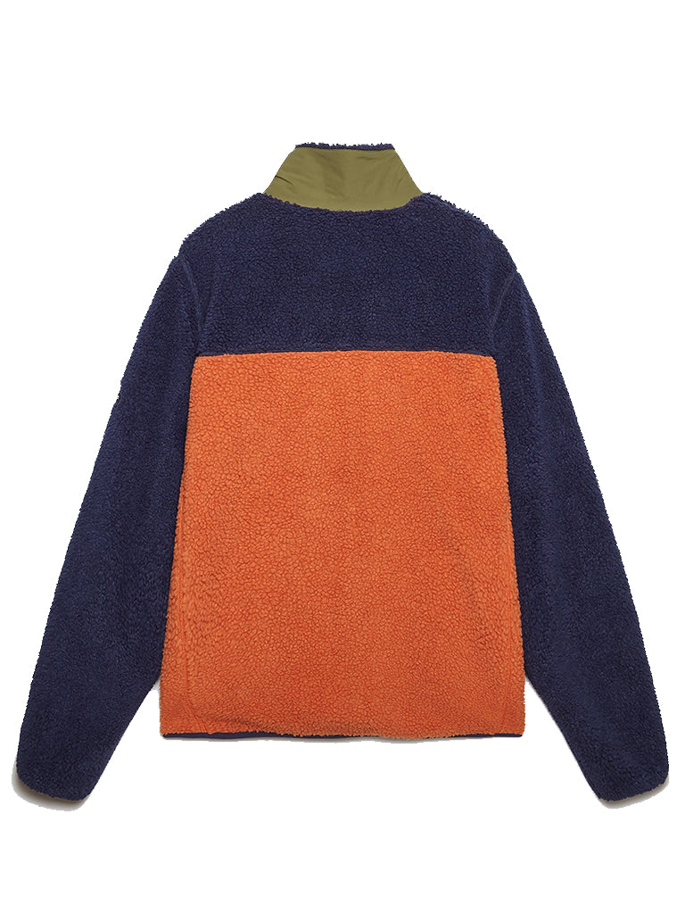 Mattawa Fleece- Tan/Orange/Navy