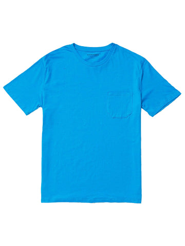 Pocket Tee- Cobalt