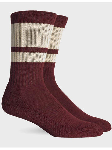 Sierra Sock- Red & Oatmeal