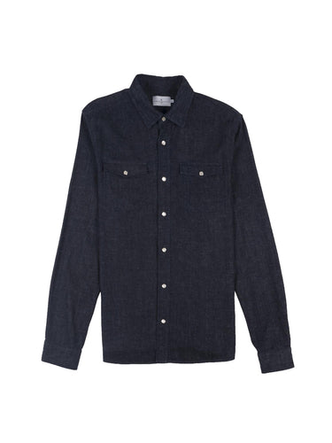 Denim Twill Shirt- Dark Indigo