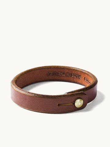 Wrap Wristband- Cognac/Brass Hardware