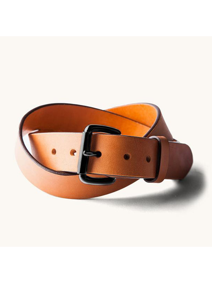 Standard Belt- Saddle Tan/Black Hardware