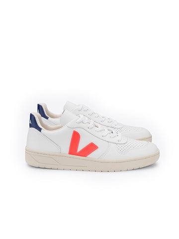 V-10 Leather Extra White/Orange/Cobalt