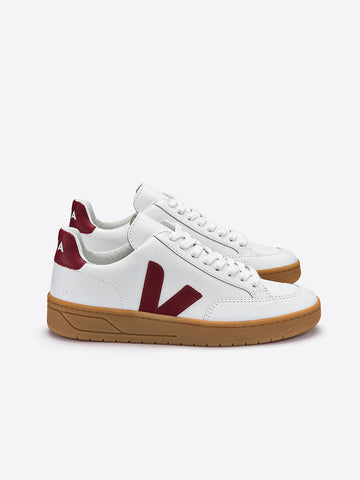 V-12 Leather White/Marsala/Natural