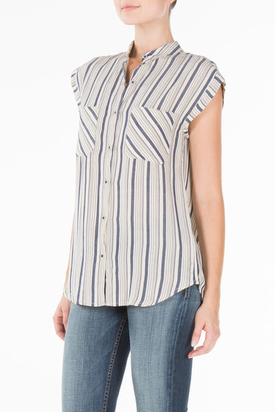 MASON SLEEVELESS IN HIGHWAY STRIPE