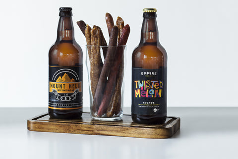 A Pint of Beer Sticks with Two Yorkshire Craft Beers
