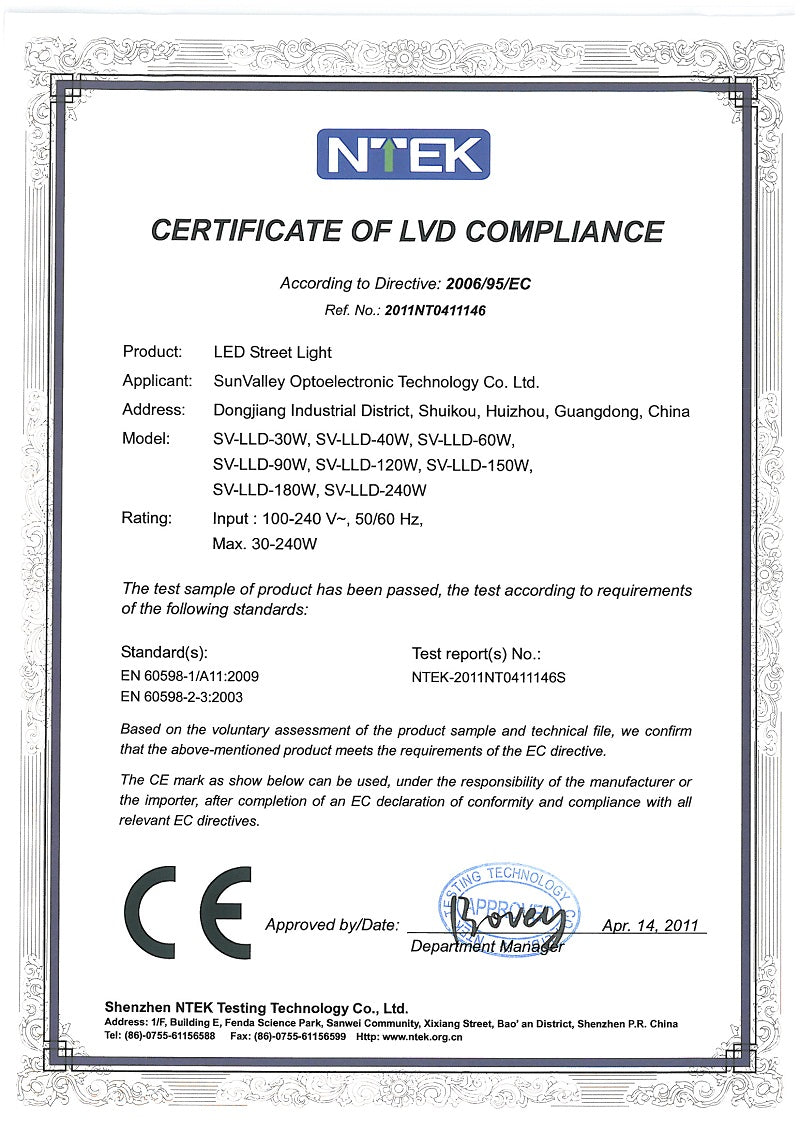 Certificates ore lighting xflitez Image collections