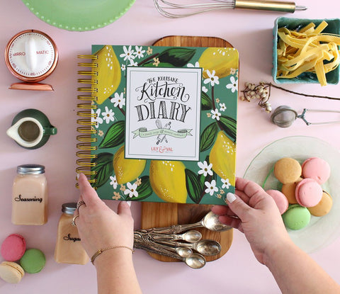 Lily and Val - The Keepsake Kitchen Diary™ - Whimsical Lemons - Living Roots Decor