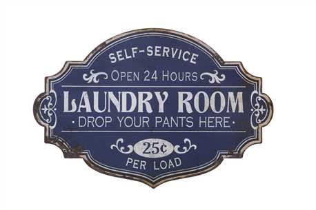 "Vintage Style ""Laundry Room"" Metal Sign - Living Roots Decor"