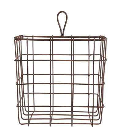 Square Metal Wire Basket - Living Roots Decor