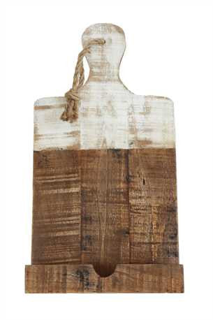White Dipped Wood Tablet Holder - Living Roots Decor