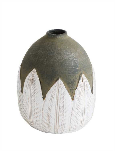 TerraCotta Hand Painted Vase - Living Roots Decor