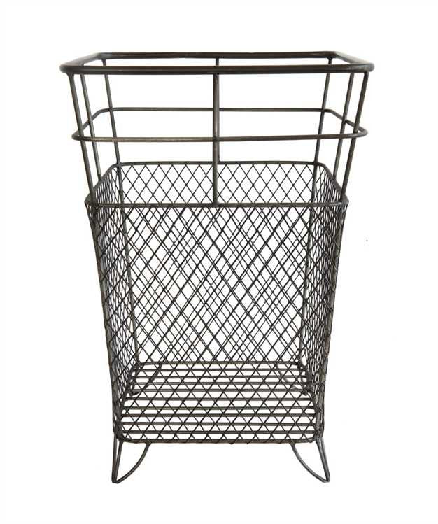 Square Metal Basket - Living Roots Decor
