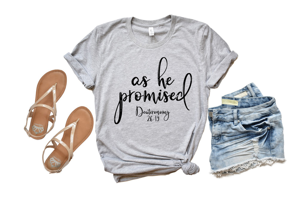Matty + Lux  - As He Promised Shirt - Living Roots Decor