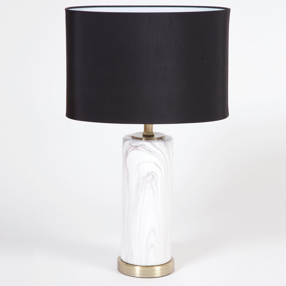 Faux Marble Base Lamp - Living Roots Decor