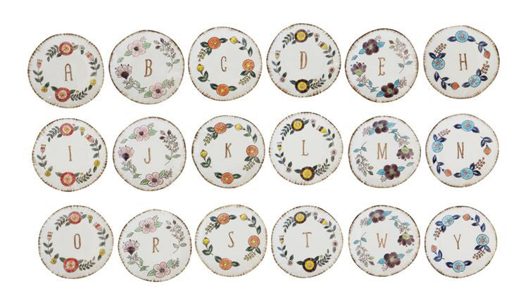Hand-Painted Monogram Plate - Living Roots Decor