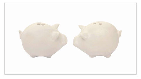 Stoneware Pigs Salt and Pepper Shakers - Living Roots Decor