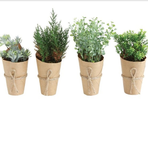 Assorted Wrapped greenery farmhouse style Living Roots Home Decor