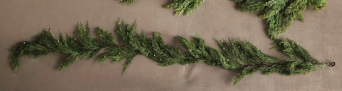 Artificial Pine Garland with Cedar Cones - Living Roots Decor