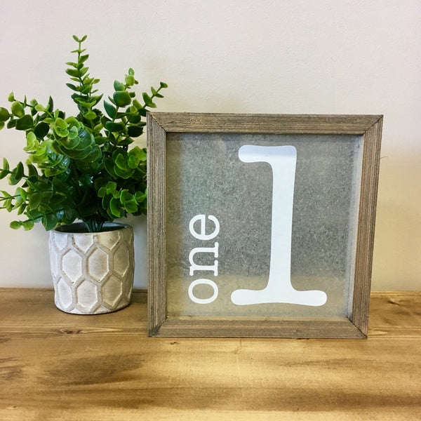 One Tin Barn Box Sign - Living Roots Decor