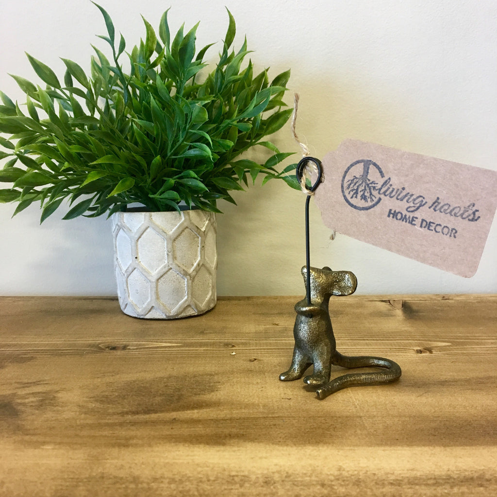 Iron Mouse Card Holder - Living Roots Decor