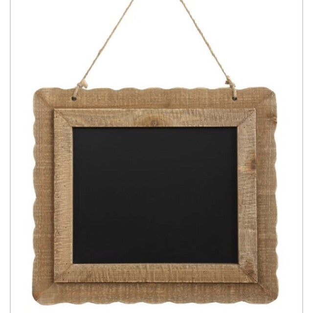 Chalkboard with Wood Frame - Living Roots Decor