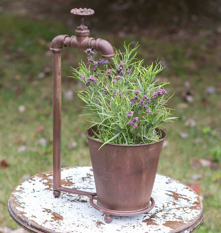 Water Spigot Tabletop Planter - Living Roots Decor