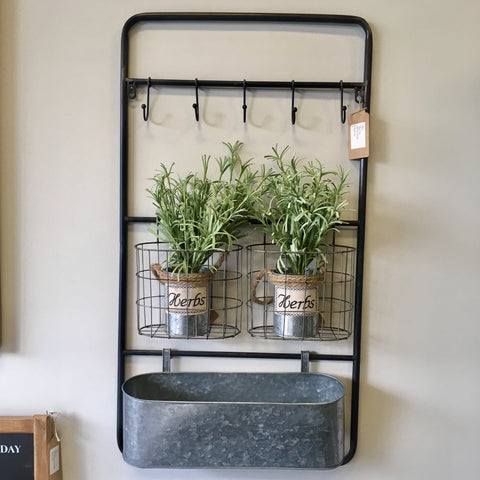 Rectangular Metal Wall Shelf - Living Roots Decor