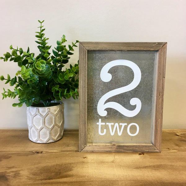 tin and barnwood number 2 sign living roots home decor