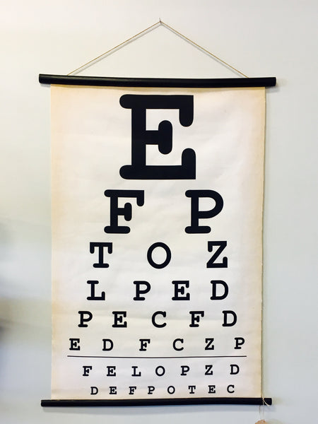 Canvas Eye Chart - Living Roots Decor