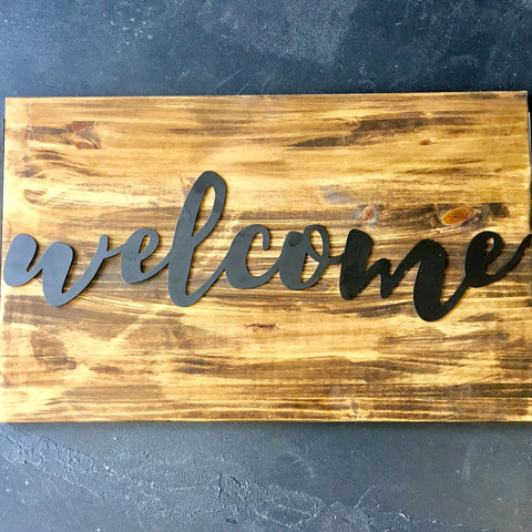 metal welcome script wall decor living roots home decor