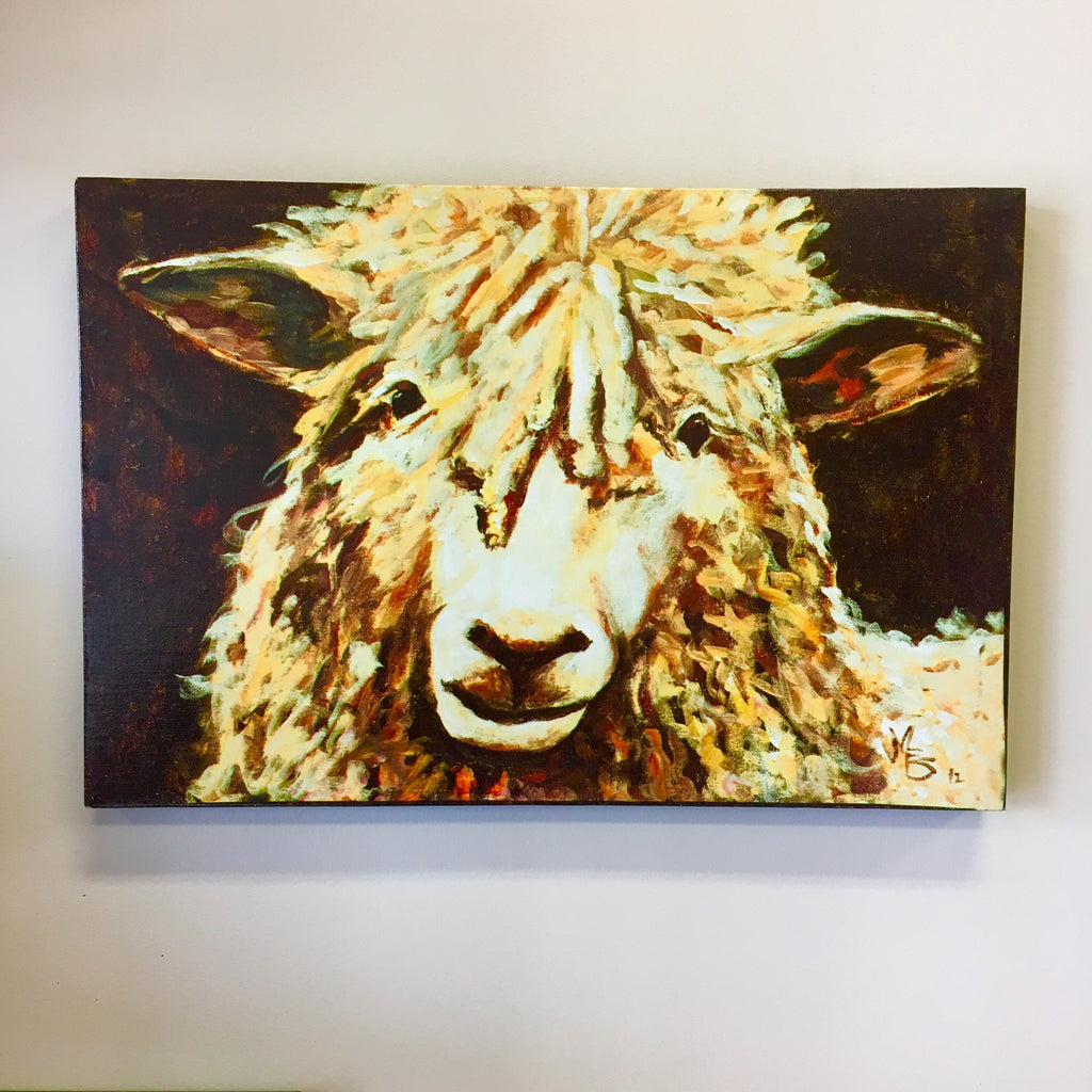 canvas sheep wall decor living roots home decor
