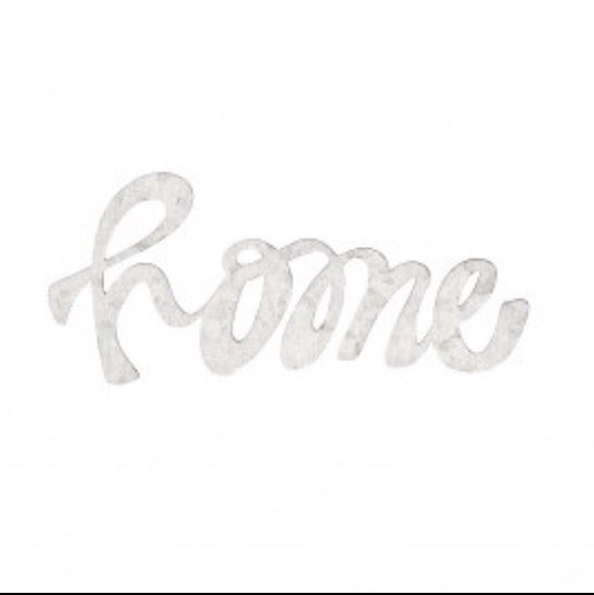 Word Cut Out Tin Ornament - Living Roots Decor