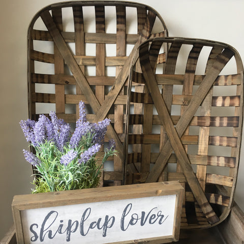 Farmhouse Style Tobacco Baskets