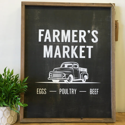 Farmer's Market Barn Box Sign - Living Roots Decor