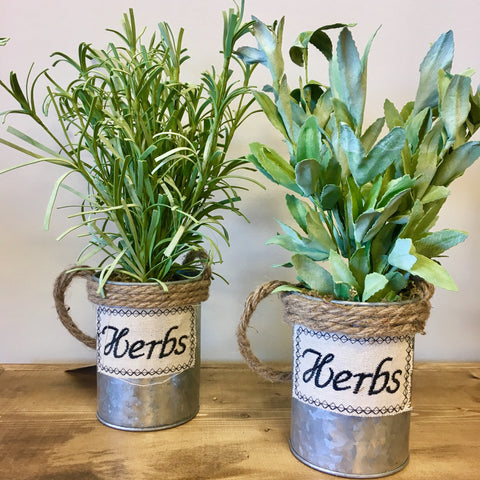 tin herb buckets living roots home decor