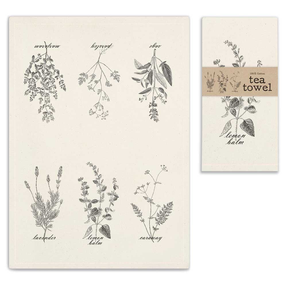 Herbs Tea Towel - Living Roots Decor