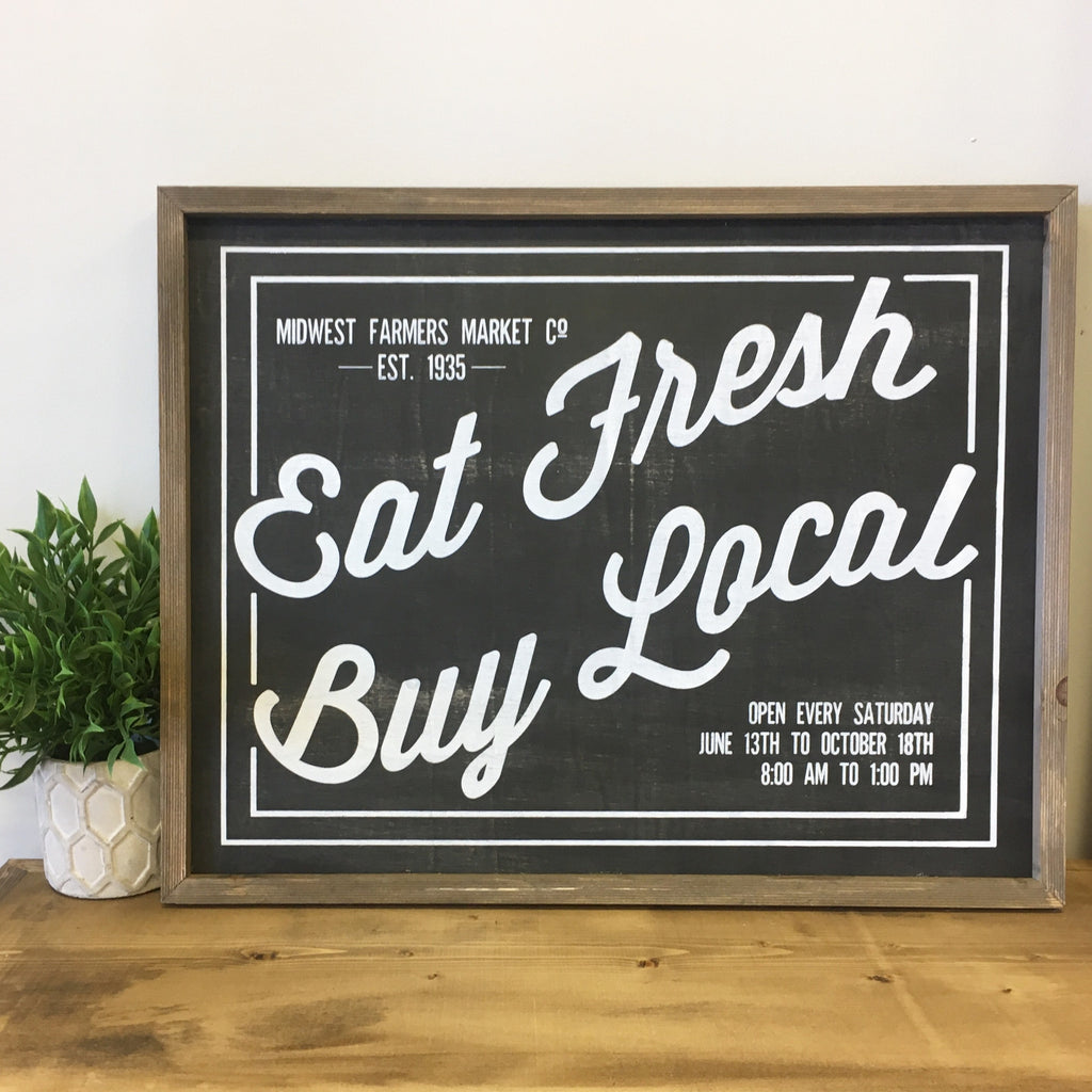 Eat Fresh Barn Box Sign - Living Roots Decor