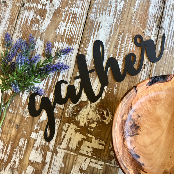 Gather Metal Cutout - Living Roots Decor