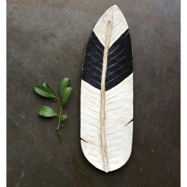 Wood Shaped Feather Tray - Living Roots Decor