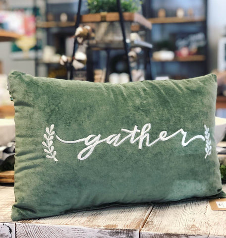 "Velvet ""Gather"" Pillow"