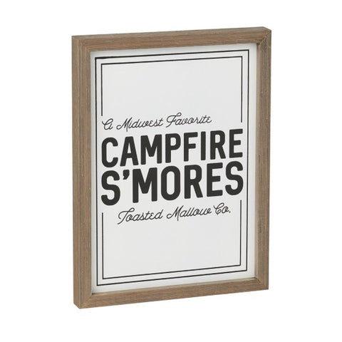 Campfire S'mores Barn wood Box Sign Living Roots Home Decor