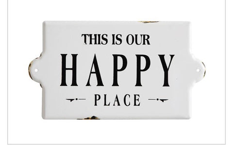 """Happy Place"" Wall Decor"