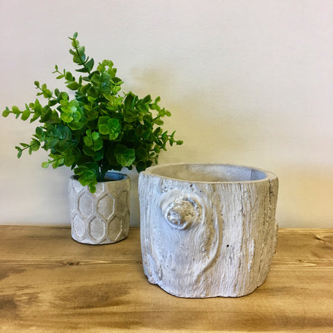 Tree Stump Cement Planter - Living Roots Decor