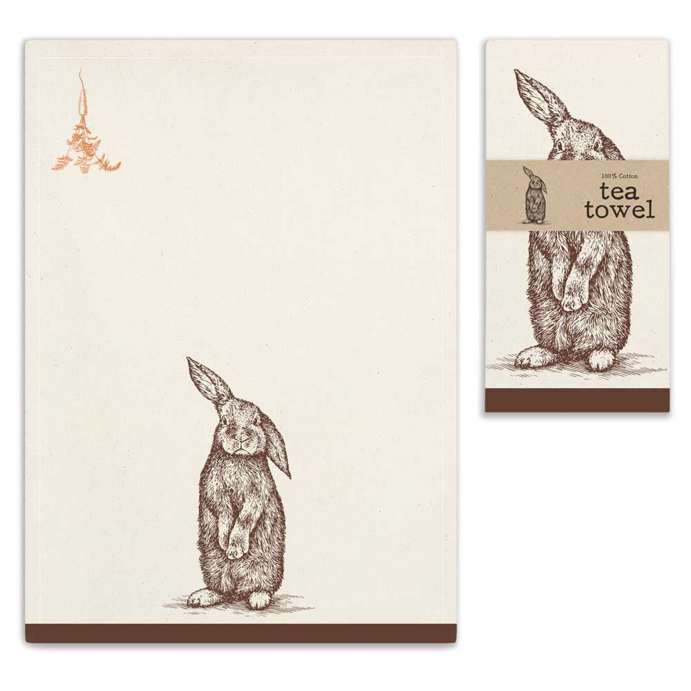 Bunny Tea Towel - Living Roots Decor