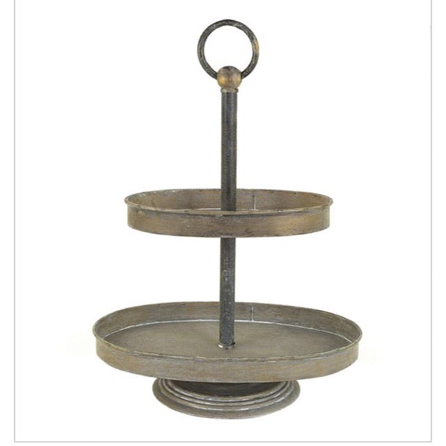 Metal 2-Tier Tray - Living Roots Decor