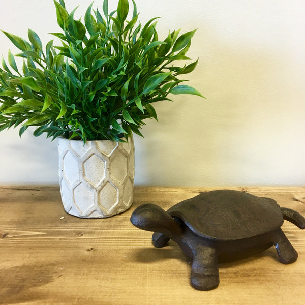 cast iron hide a key turtle living roots home decor