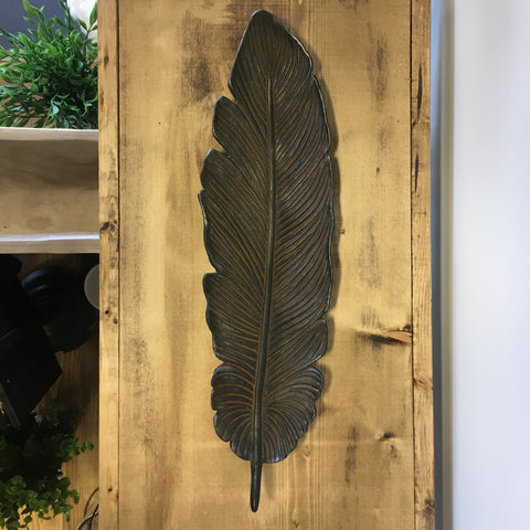 Cast Iron Feather Shaped Wall Décor/Decorative Tray - Living Roots Decor