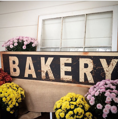 "Farmhouse Style distressed black""Bakery"" Sign - Living Roots Decor"